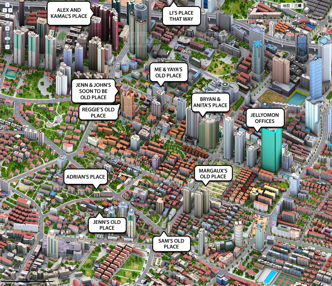 KIDPLASTIK Shanghai - Tokyo japan 3d map